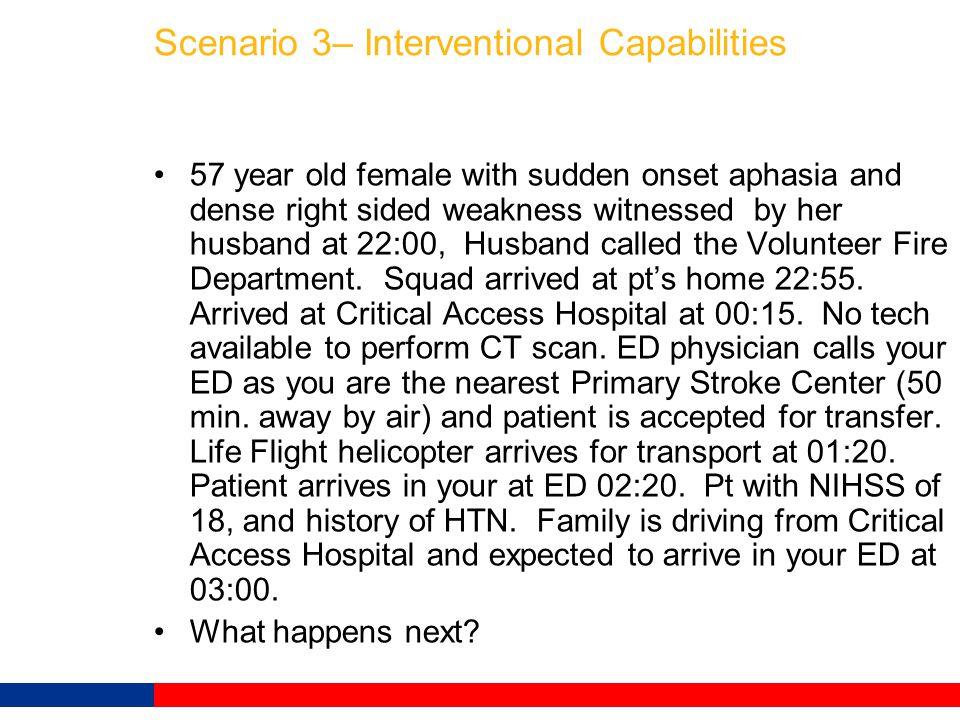 Scenario 3– Interventional Capabilities