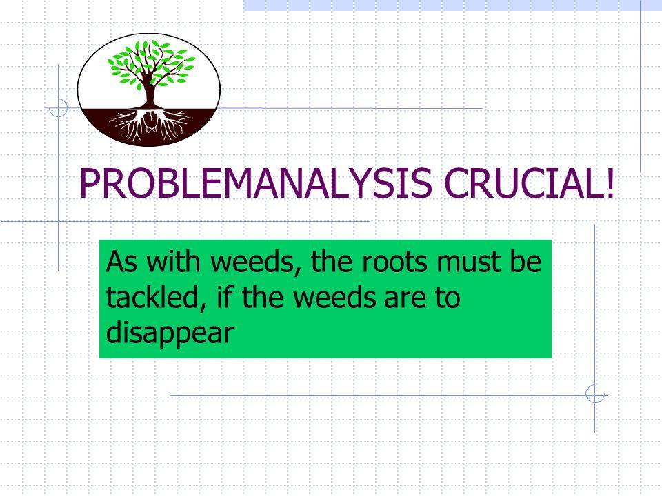 PROBLEMANALYSIS CRUCIAL!