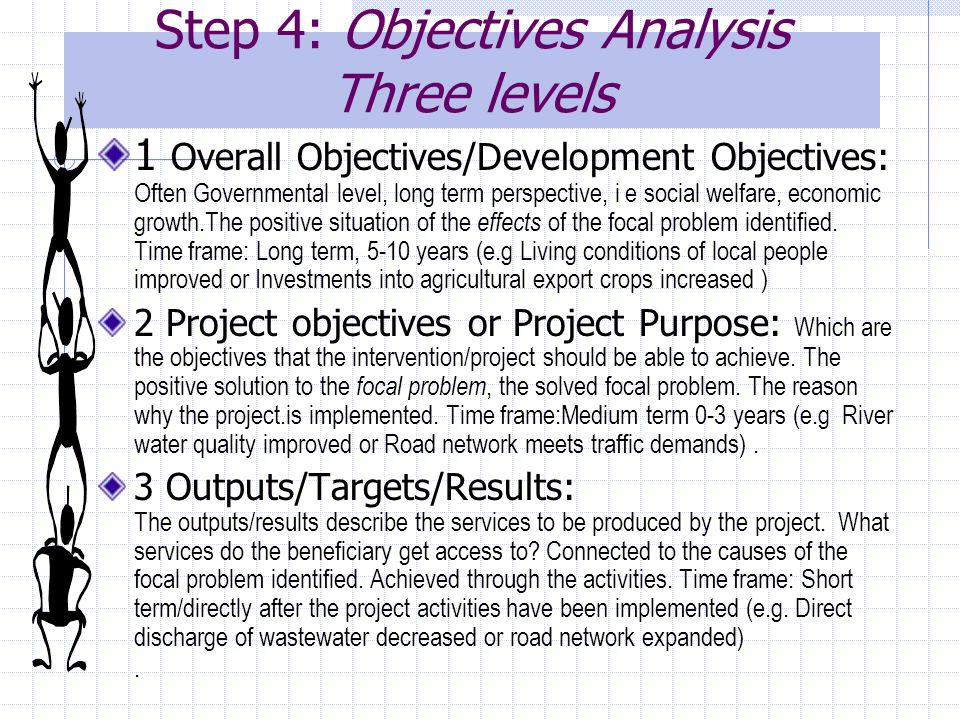 Step 4: Objectives Analysis Three levels