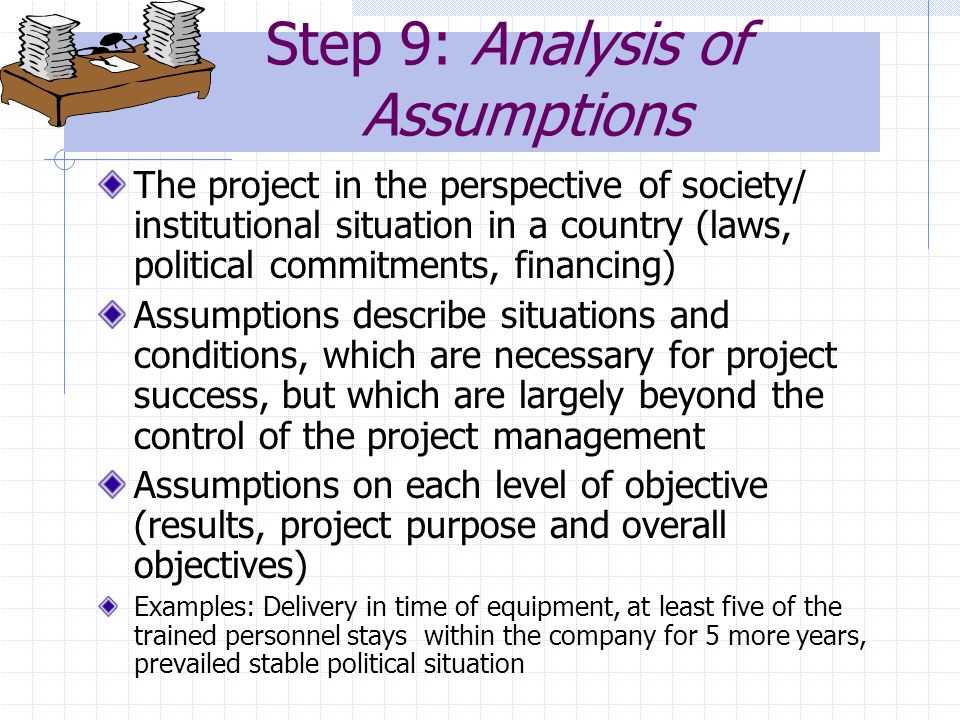 Step 9: Analysis of Assumptions