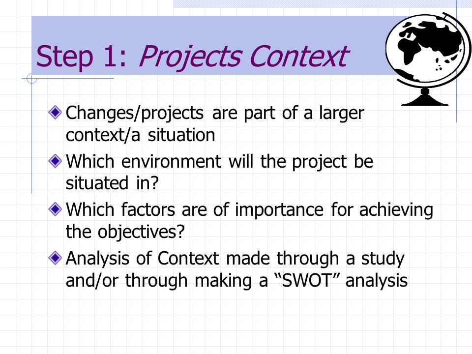 Step 1: Projects Context
