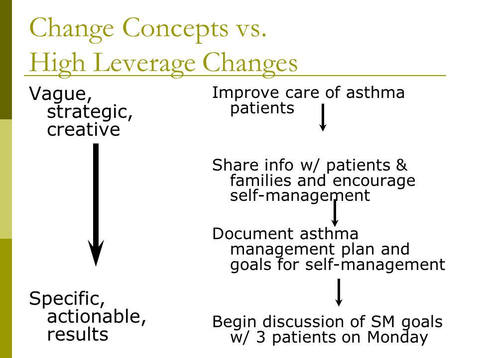 Change Concepts vs. High Leverage Changes