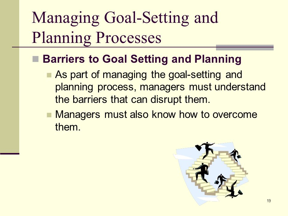 Managing Goal-Setting and Planning Processes