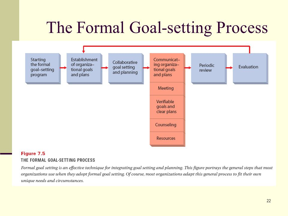 The Formal Goal-setting Process