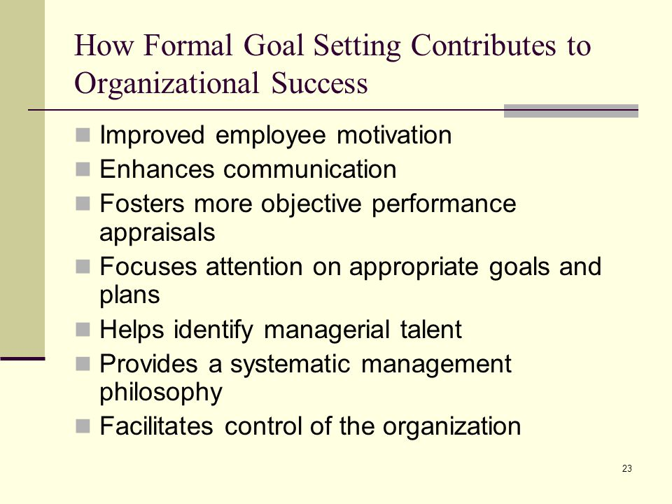 How Formal Goal Setting Contributes to Organizational Success