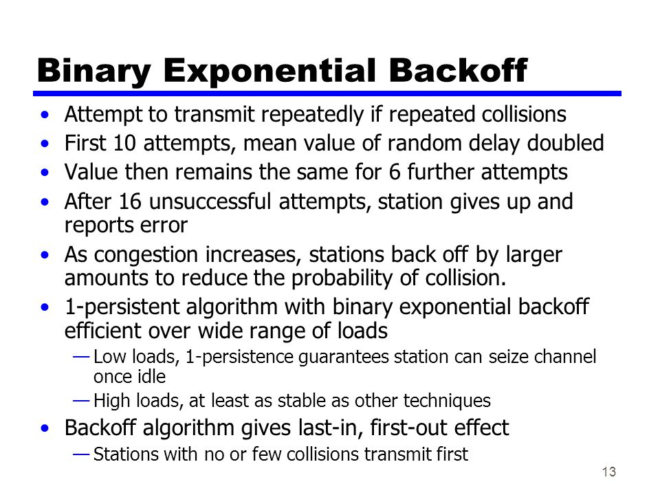 Binary Exponential Backoff