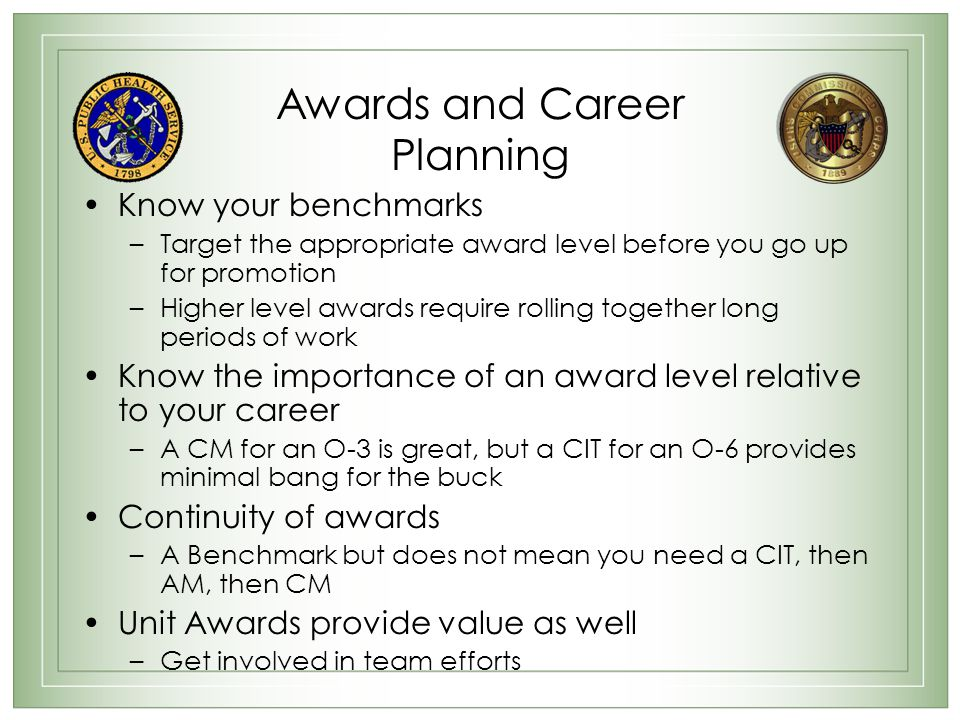 Awards and Career Planning