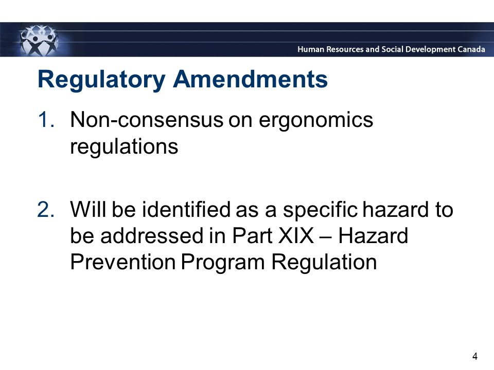 Regulatory Amendments