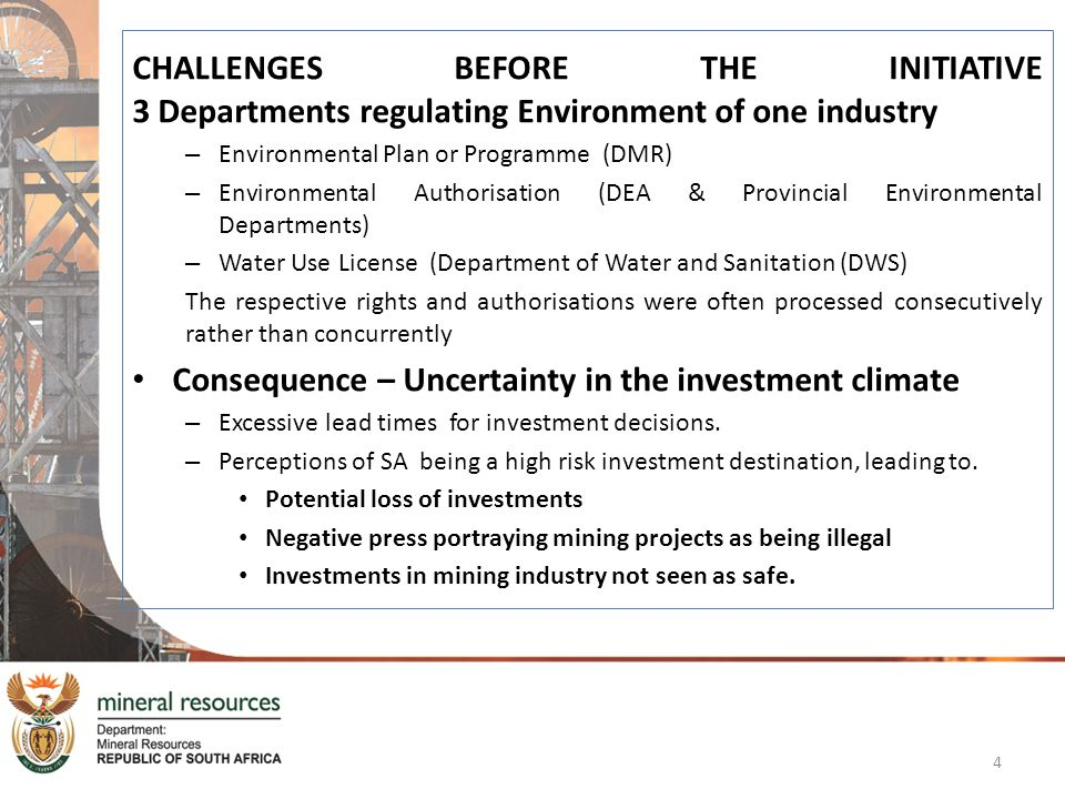 Consequence – Uncertainty in the investment climate