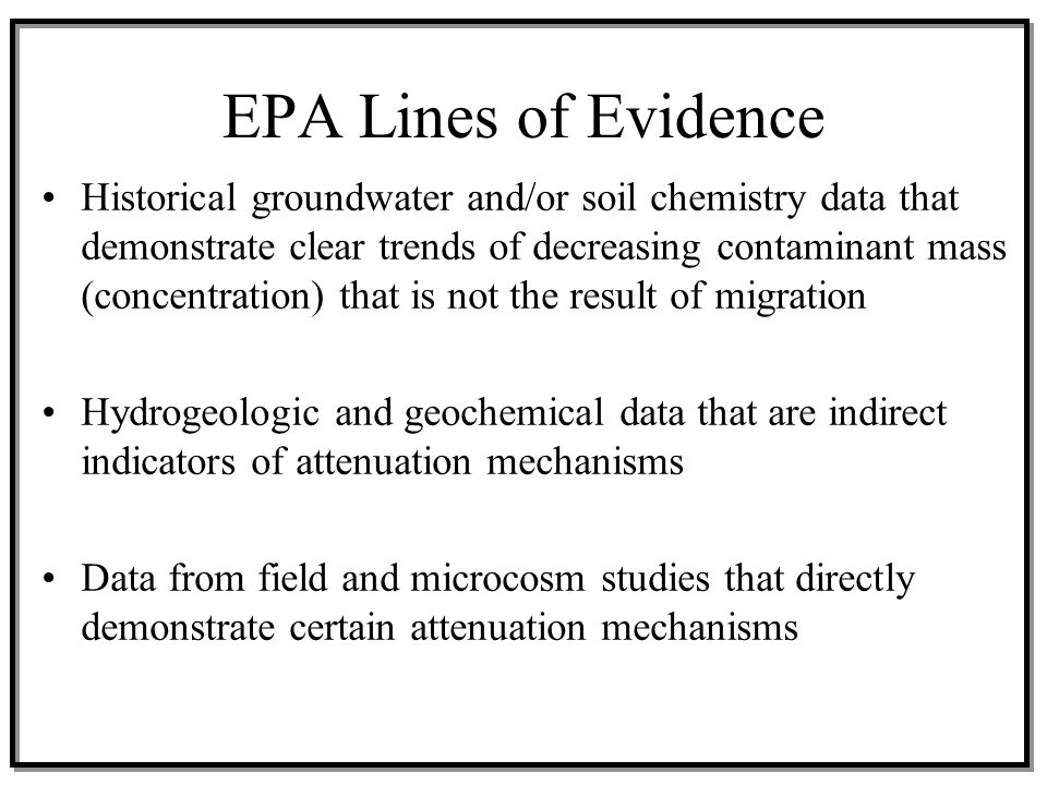 EPA Lines of Evidence