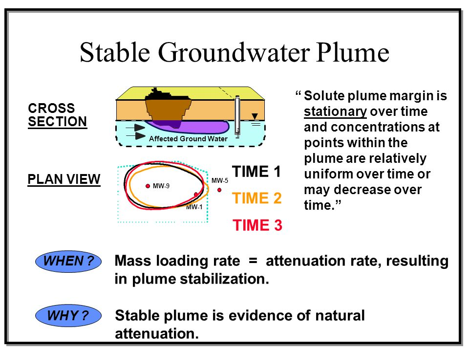 Stable Groundwater Plume