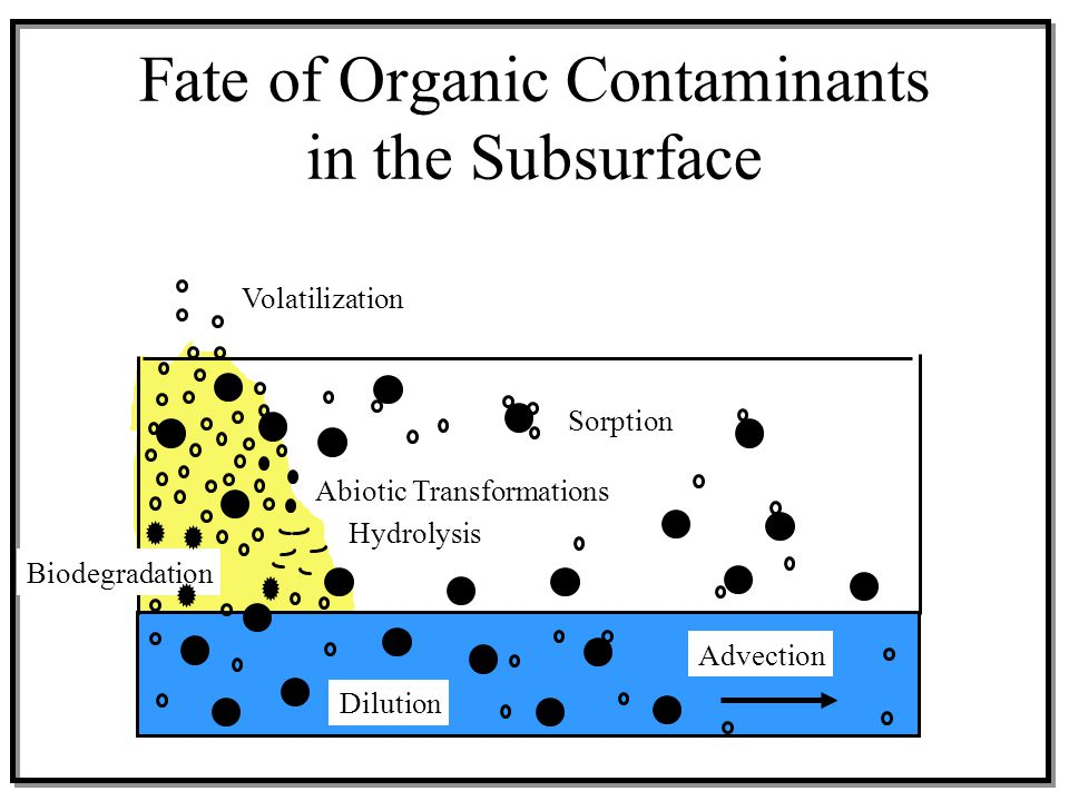 Fate of Organic Contaminants in the Subsurface
