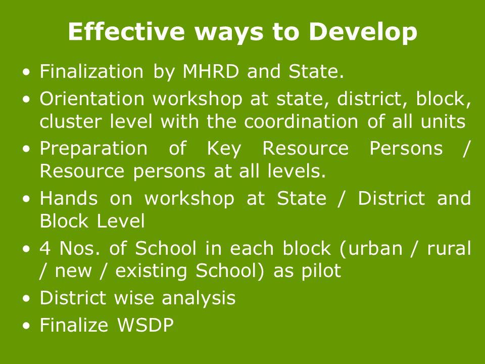 Effective ways to Develop