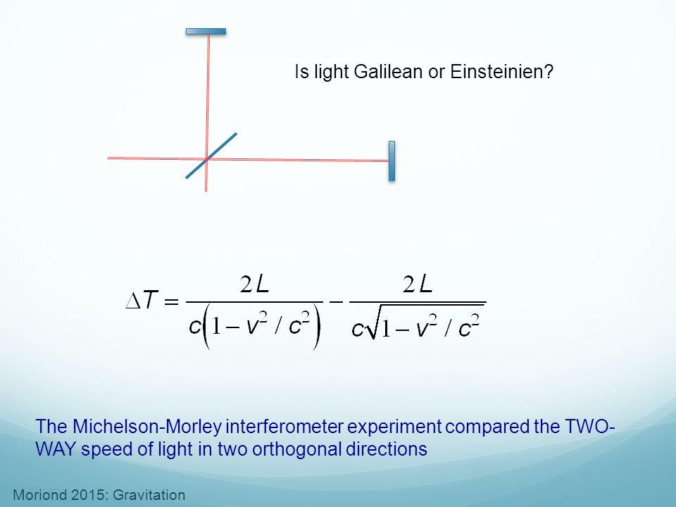 Is light Galilean or Einsteinien