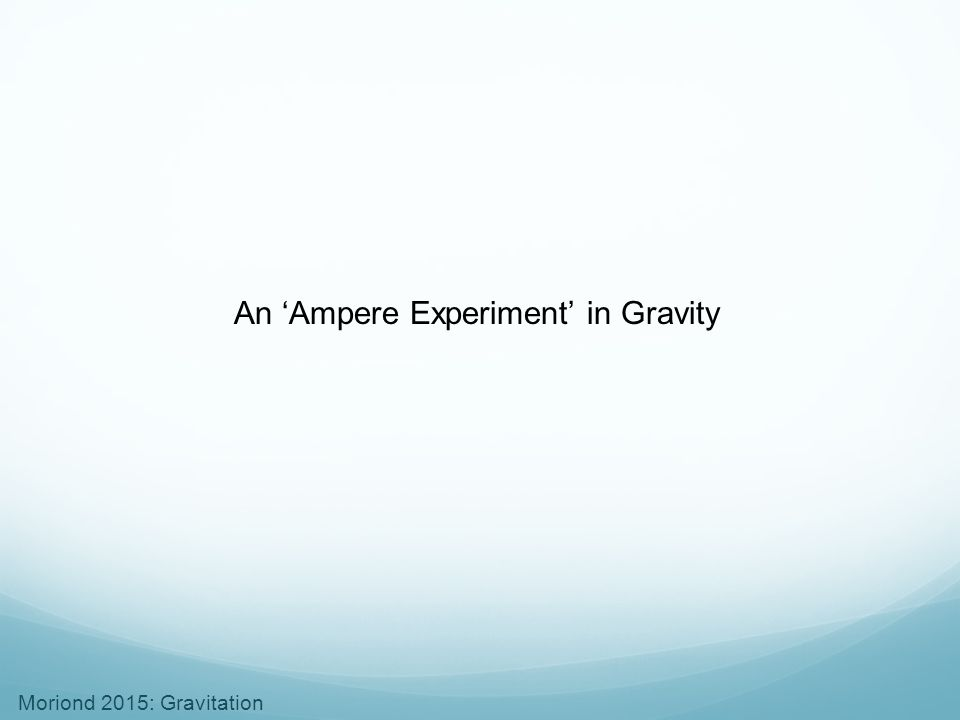 An 'Ampere Experiment' in Gravity