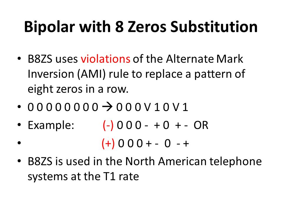 Bipolar with 8 Zeros Substitution