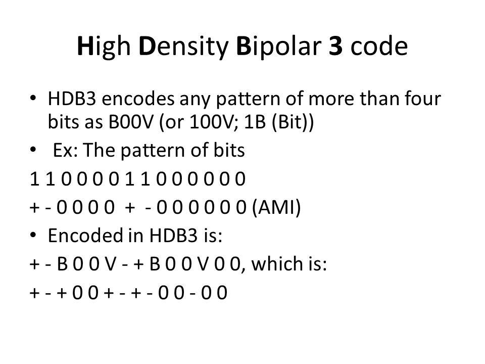 High Density Bipolar 3 code