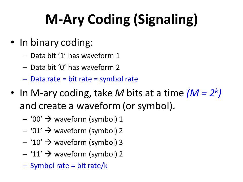 M-Ary Coding (Signaling)