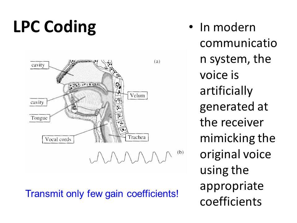 LPC Coding