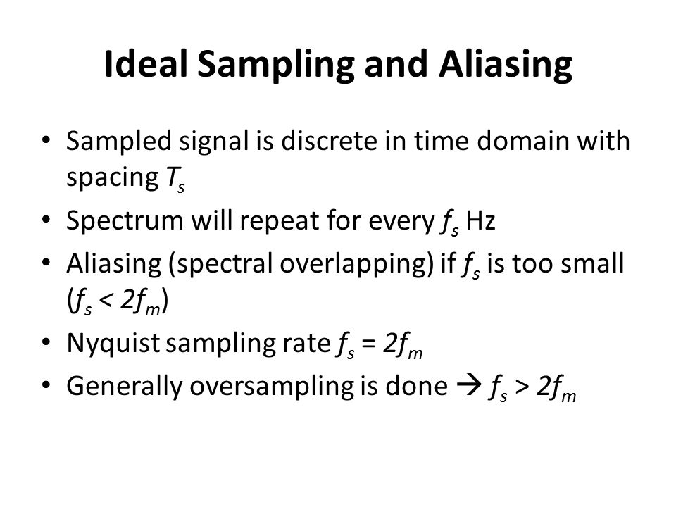 Ideal Sampling and Aliasing
