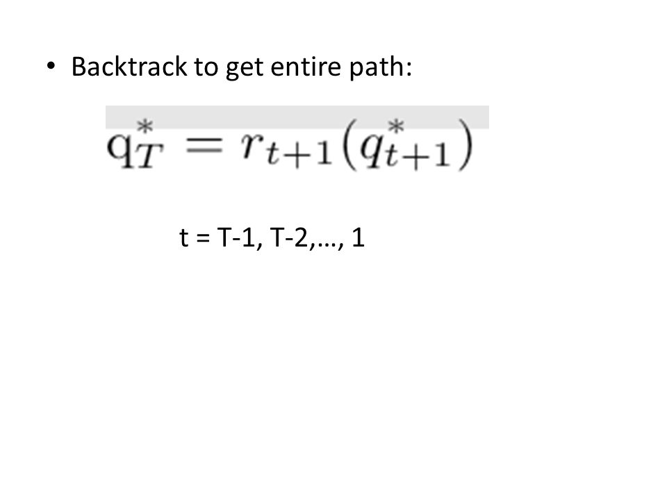 Backtrack to get entire path: