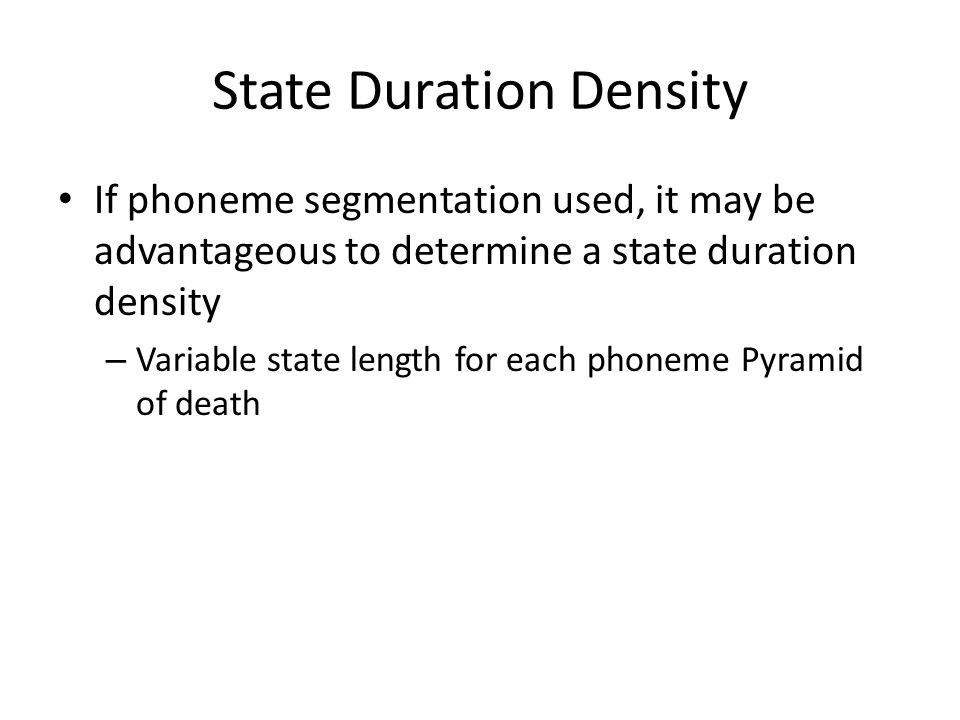 State Duration Density