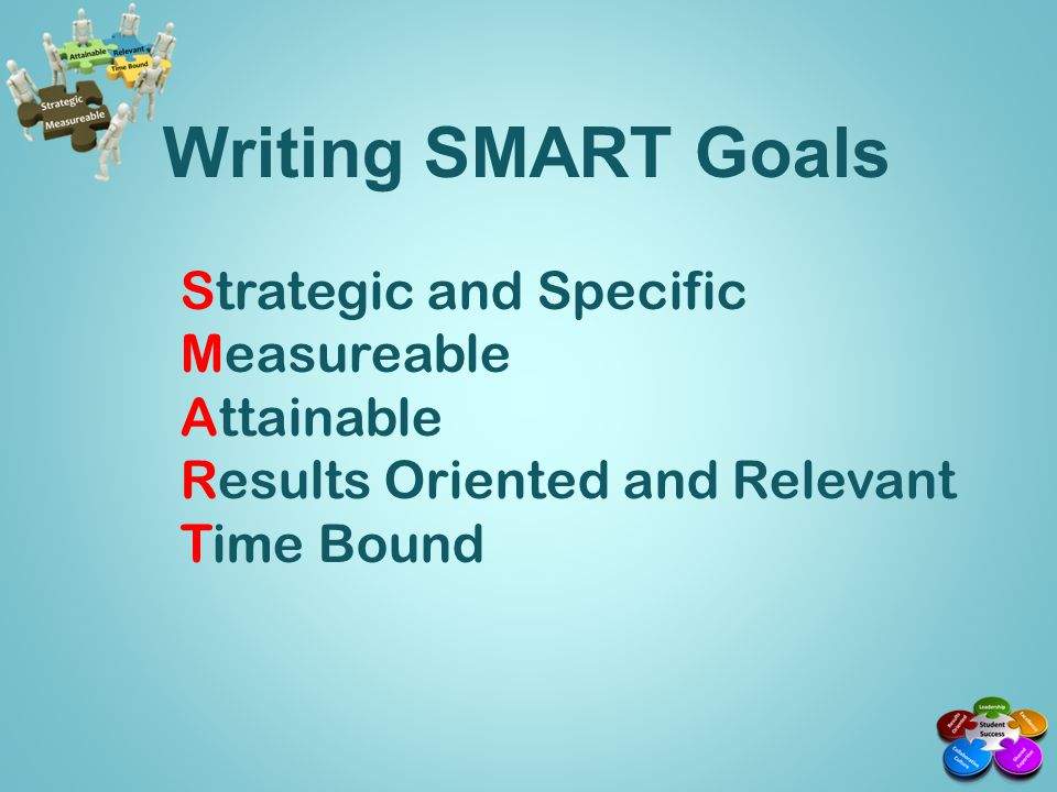 Writing SMART Goals Strategic and Specific Measureable Attainable