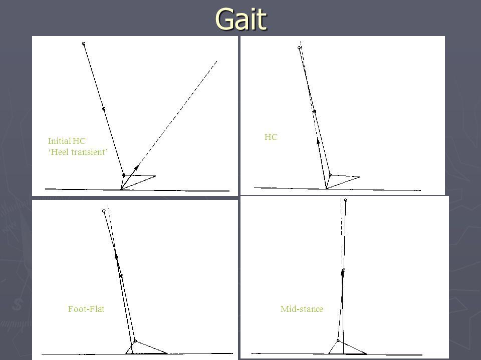 Gait HC Initial HC 'Heel transient' Foot-Flat Mid-stance