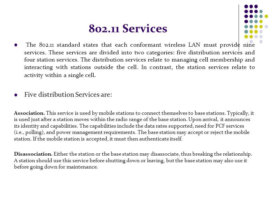 802.11 Services