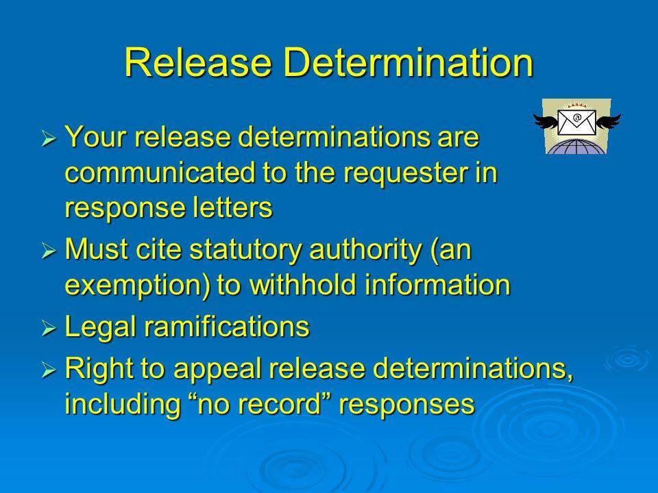 Release Determination
