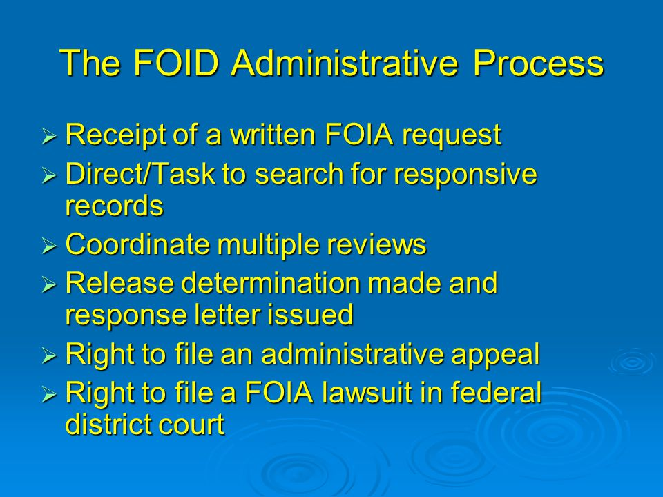 The FOID Administrative Process