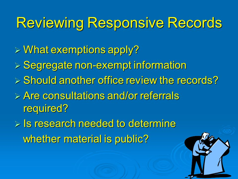 Reviewing Responsive Records