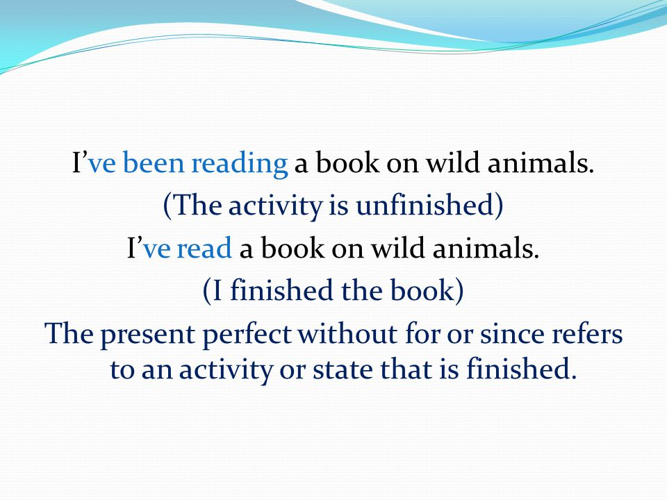 I've been reading a book on wild animals