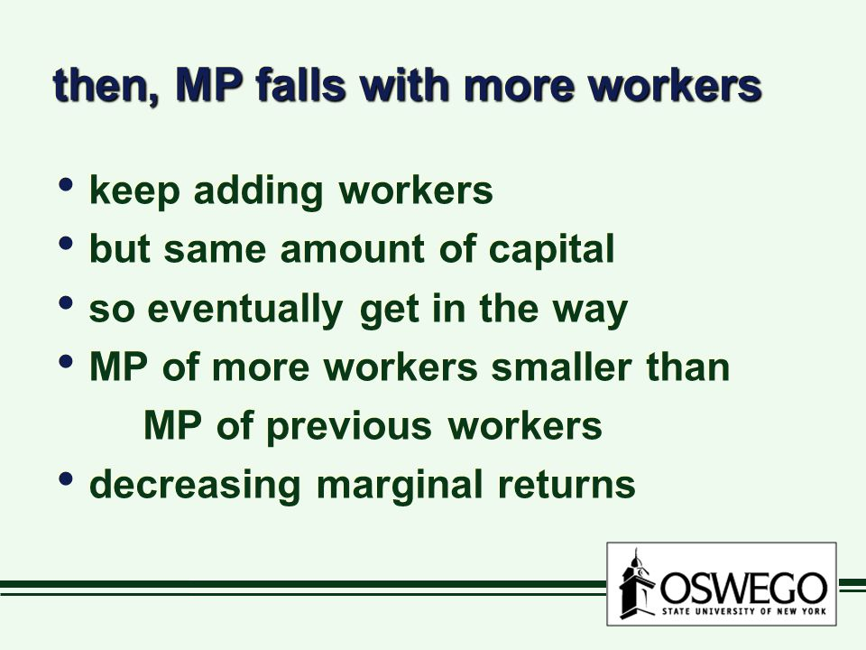 then, MP falls with more workers