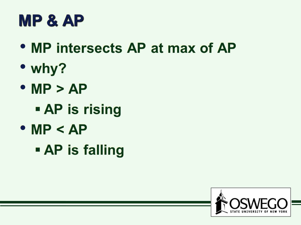 MP & AP MP intersects AP at max of AP why MP > AP AP is rising
