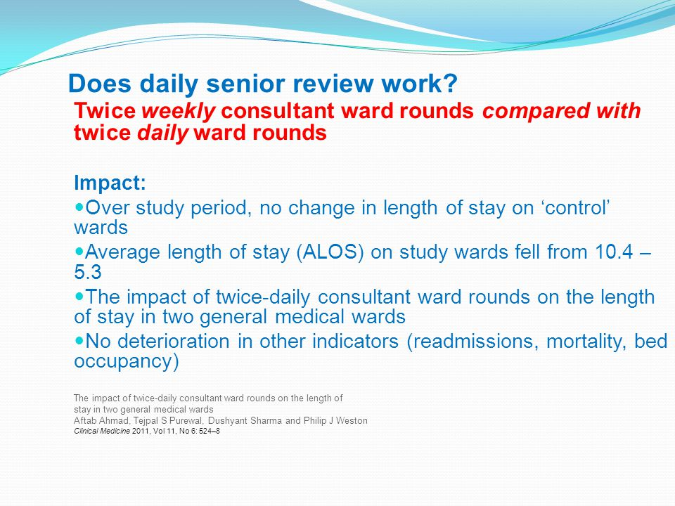 Does daily senior review work