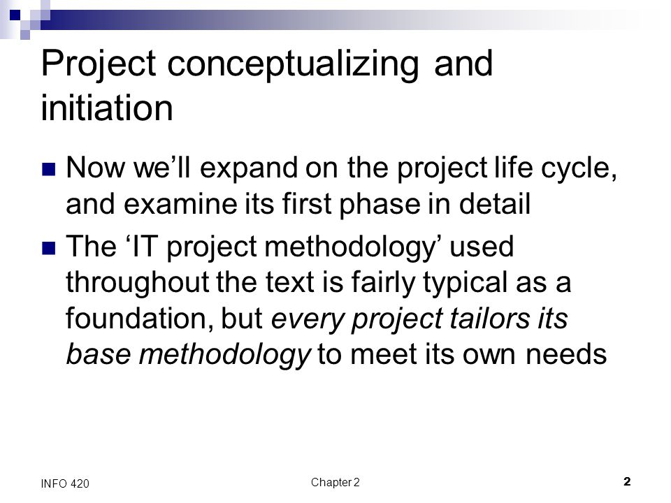 Project conceptualizing and initiation