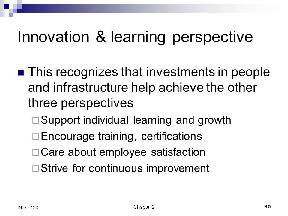 Innovation & learning perspective