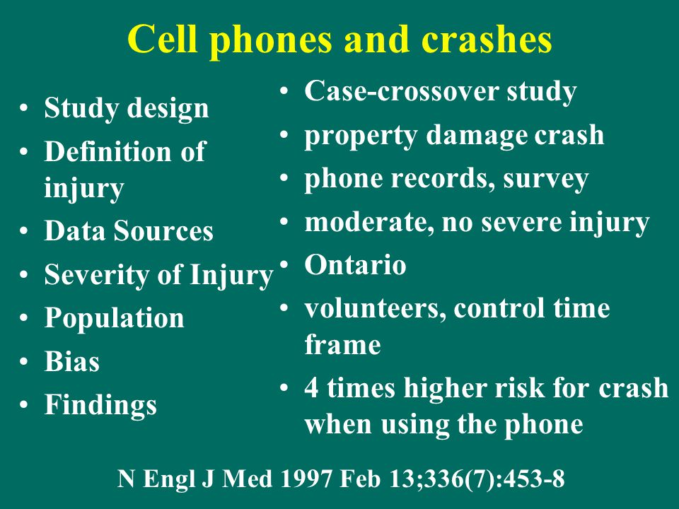 Cell phones and crashes