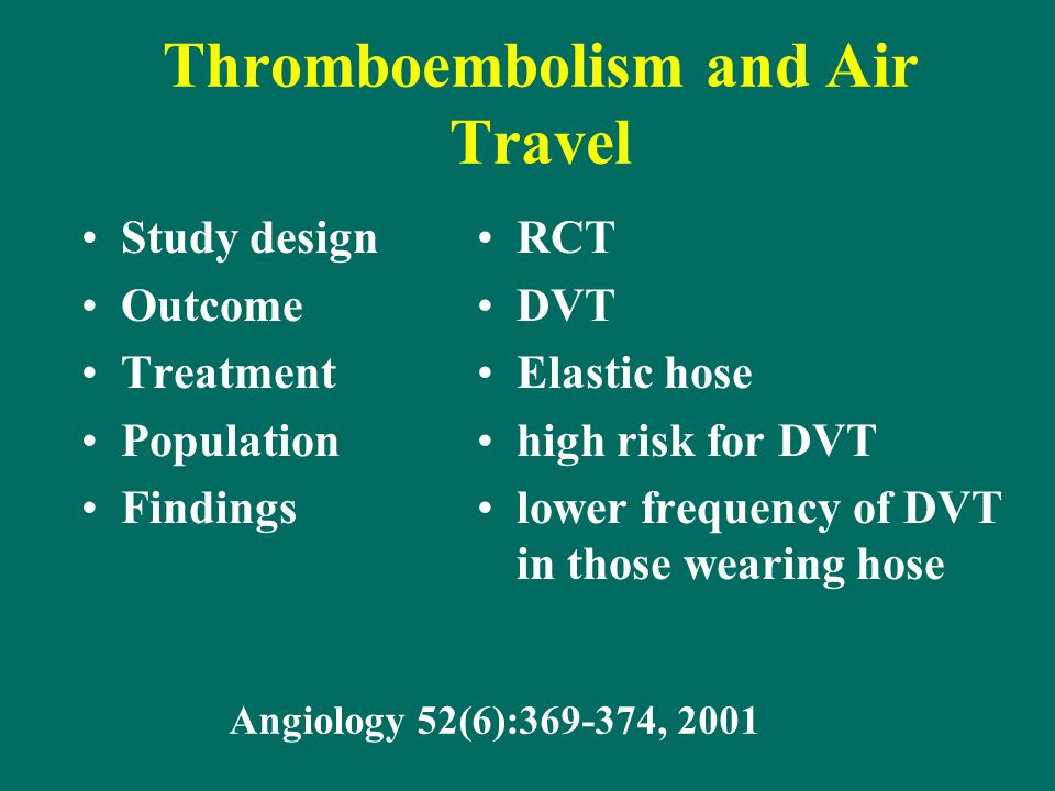 Thromboembolism and Air Travel