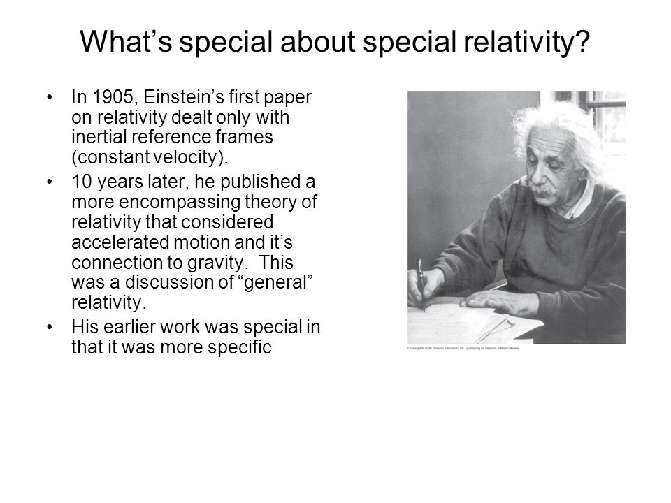 What's special about special relativity