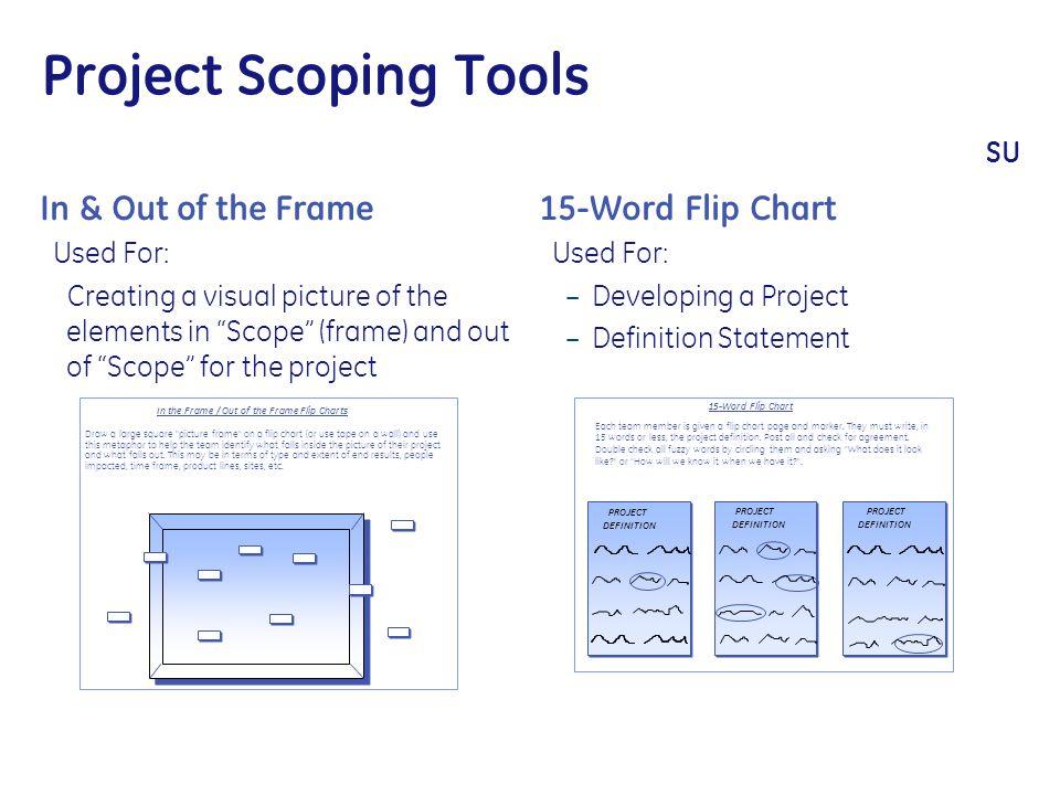 Project Scoping Tools SU