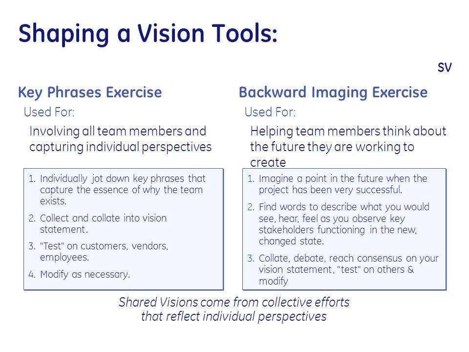 Shaping a Vision Tools: SV