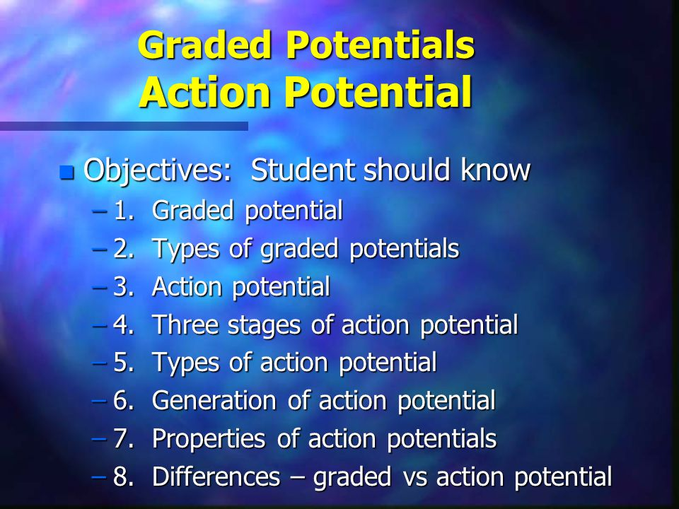 Graded Potentials Action Potential