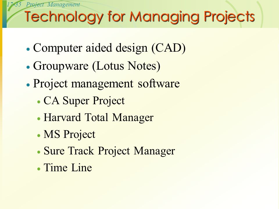 Technology for Managing Projects