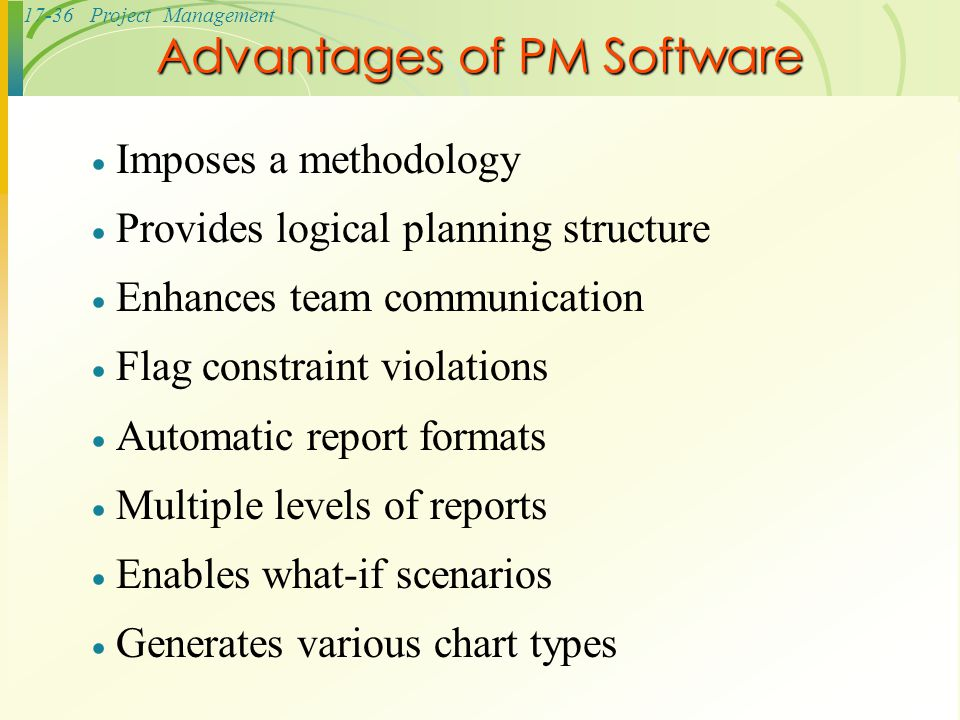 Advantages of PM Software