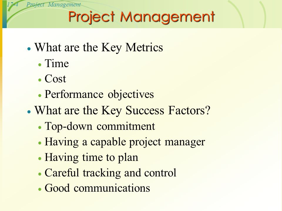Project Management What are the Key Metrics