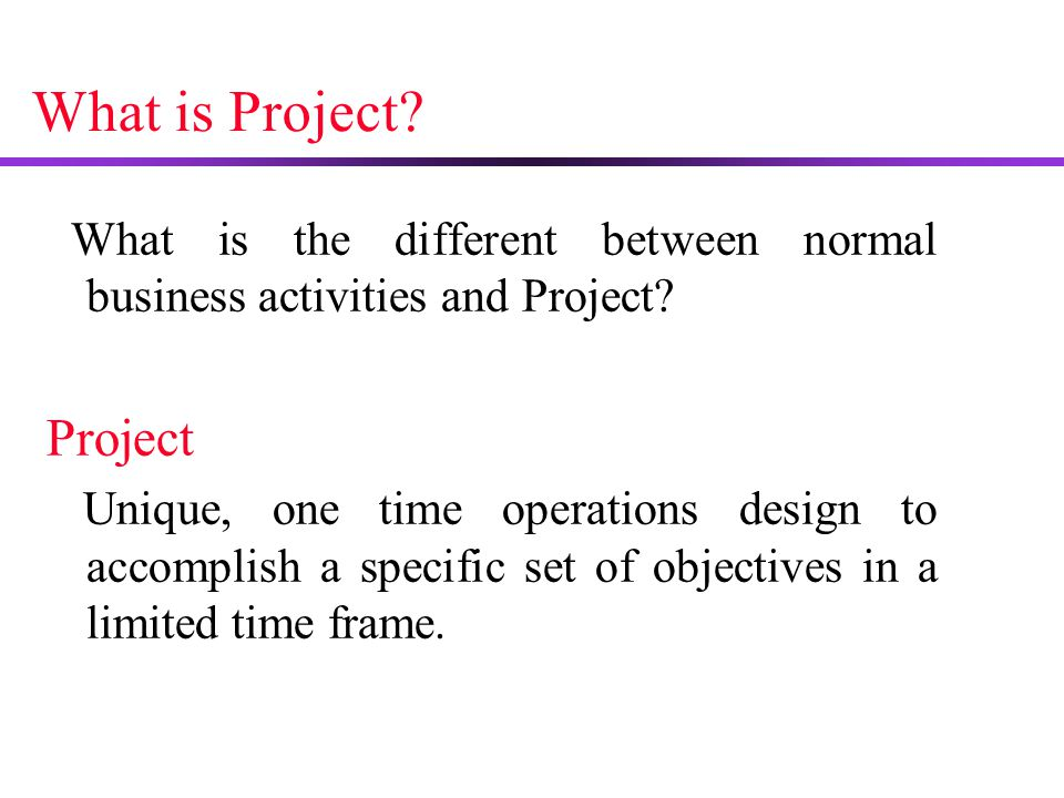 What is Project Project
