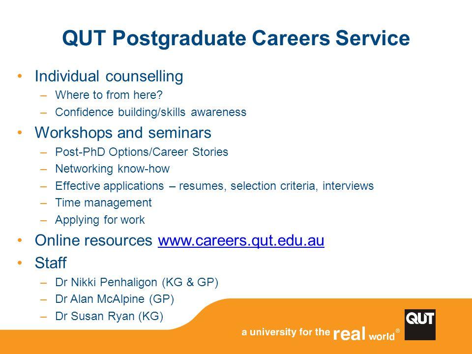 QUT Postgraduate Careers Service