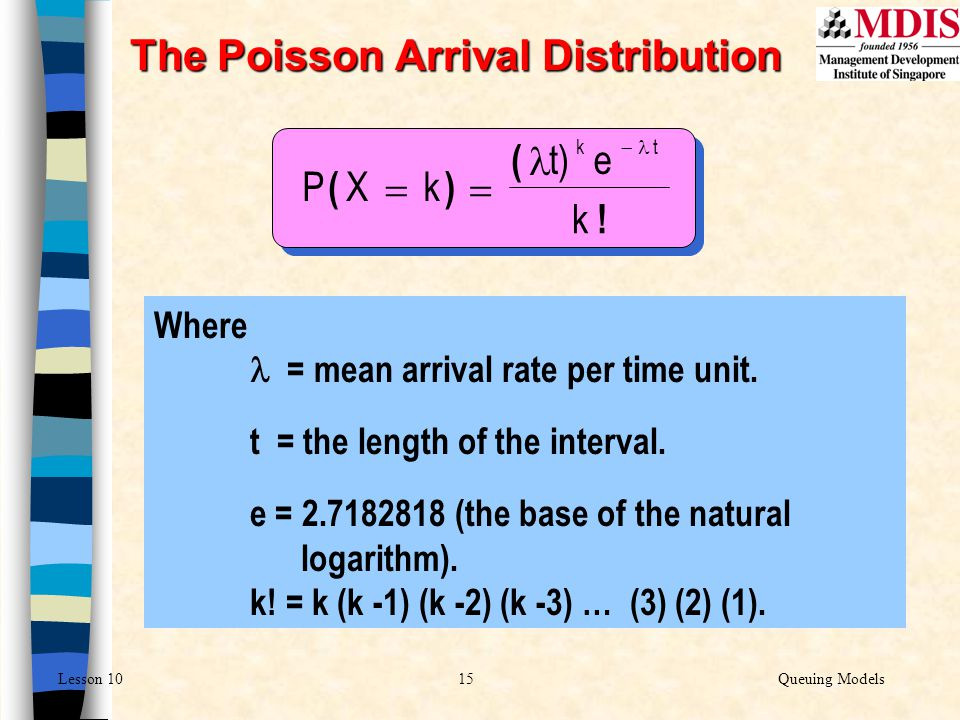 The Poisson Arrival Distribution